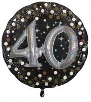 Golden 40th Birthday Folienballon 81cm