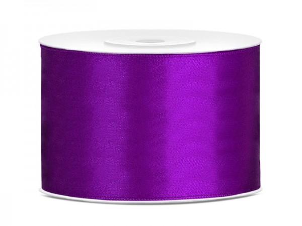 Cinta de raso de 25 m violeta de 5 cm de ancho