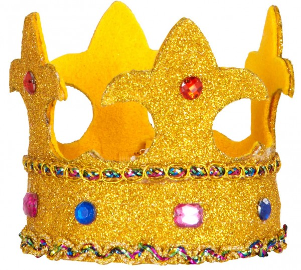 Goldene Glitzer Krone