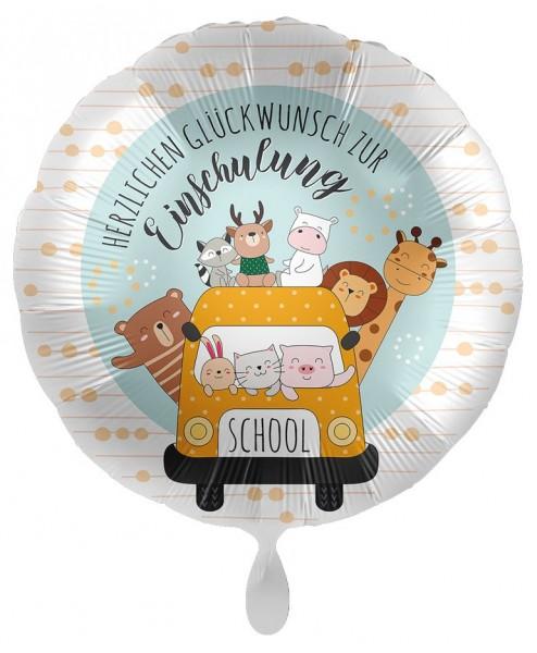 Einschulung Folienballon Schulbus 43cm