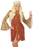 Vorschau: Blumige Hippie-Perücke Blond