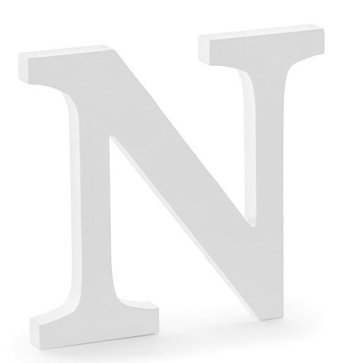 Holz Buchstabe N weiß 21,5 x 20cm
