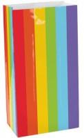 12 Rainbow Pattern Papiertüten 24cm