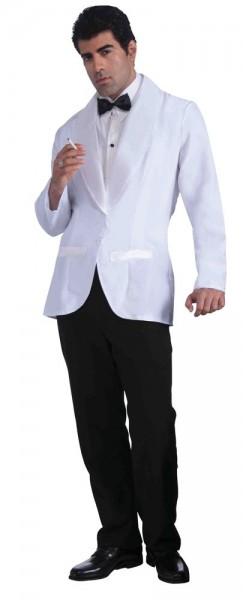 Jackett Mit Hemdeinsatz & Fliege Weiß