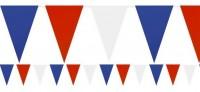 Fan Wimpelkette rot-blau-weiß 7m