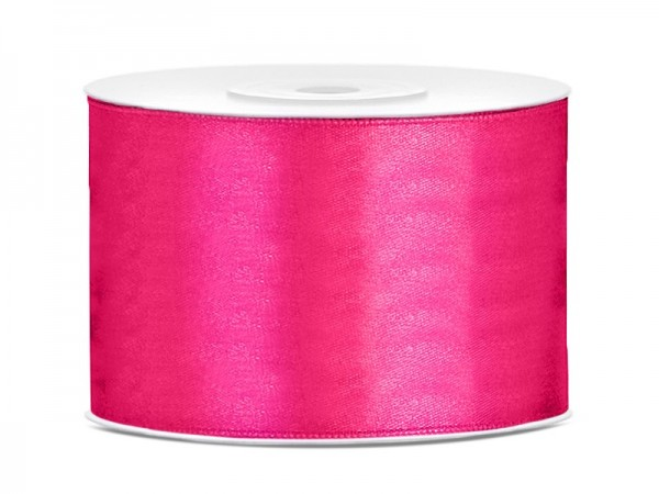 25m satin gift ribbon dark pink 5cm wide