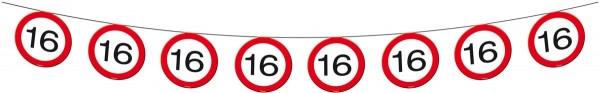 Verkehrsschild 16 Wimpelkette 12m