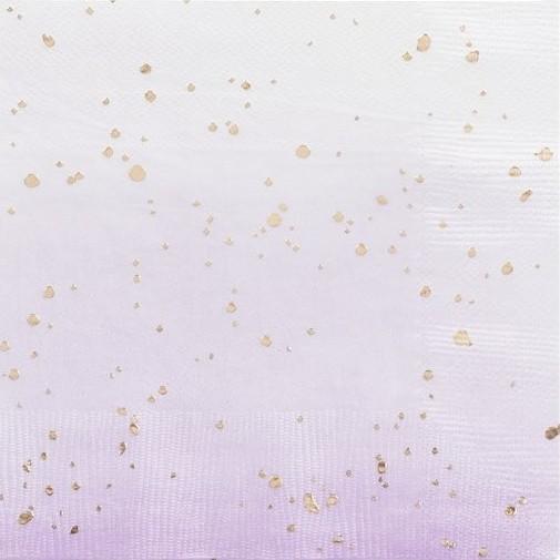 16 Lavendel Birthday Servietten 33cm