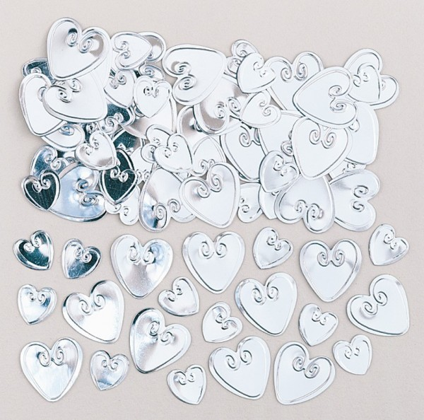 Heart sprinkle decoration Pure Romance silver 14g