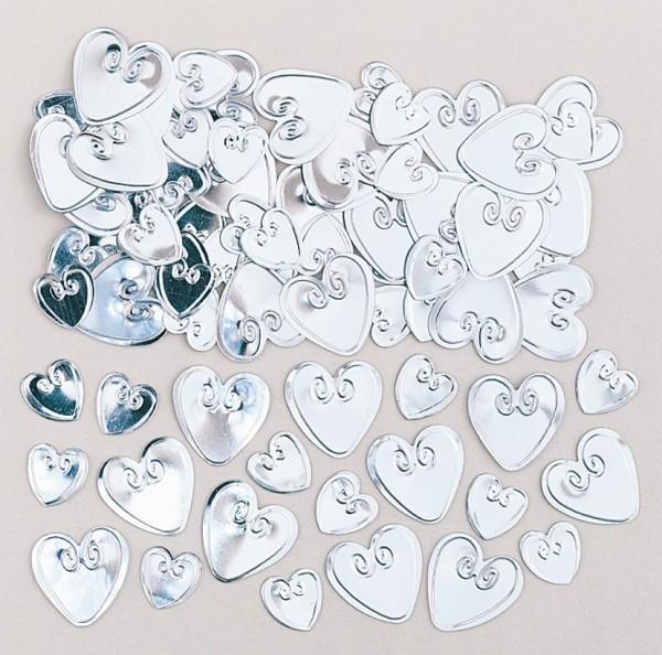 Corazón espolvorear decoración Pure Romance plata 14g