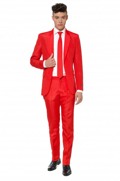 Suitmeister Partyanzug Solid Red