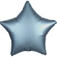 Folienballon Stern Satinoptik stahl-blau