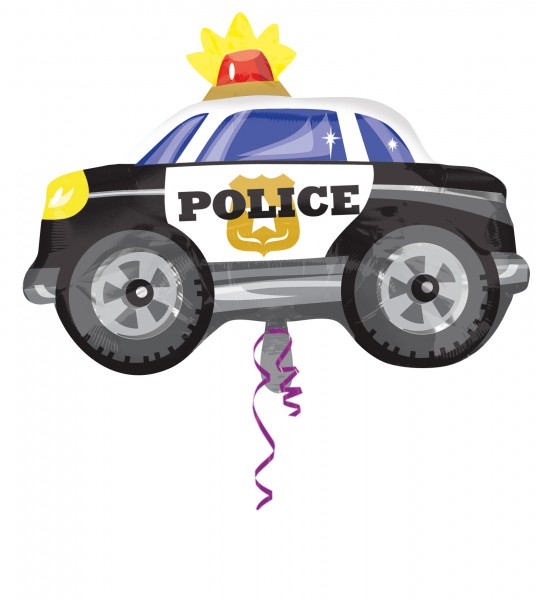 Folienballon Polizeiwagen Figur