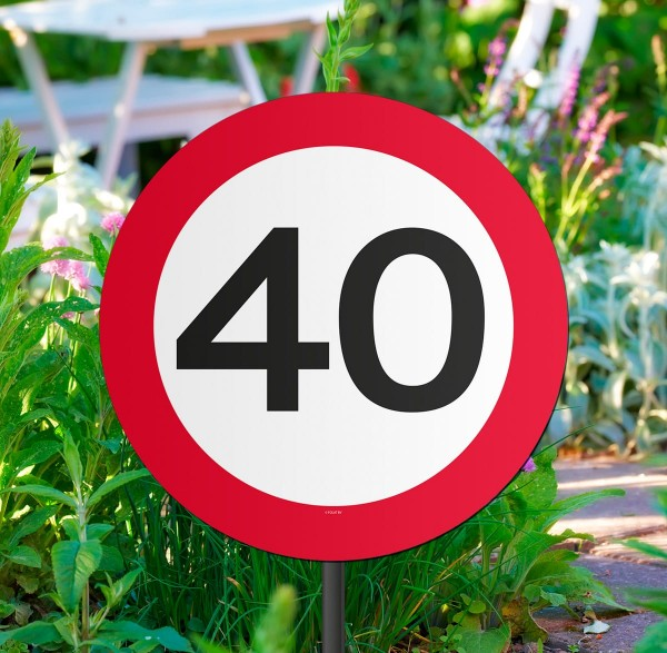 40mph Speed Sign Decoration 52cm