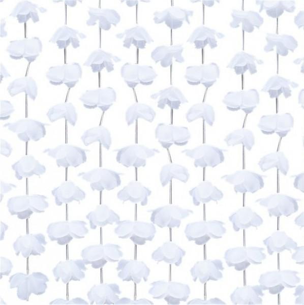 White rose flower curtain 1.8 x 2m