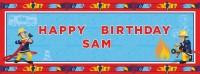Feuerwehrmann Sam Personalisierbarer Banner 44,5x117cm