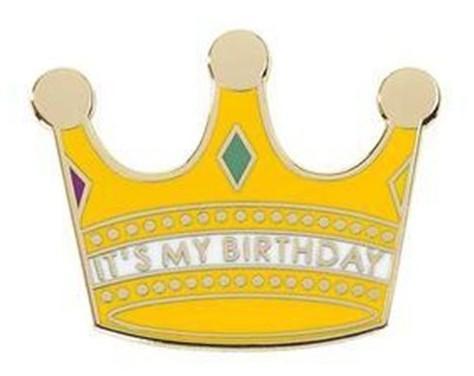 Es mi pin de corona de cumpleaños
