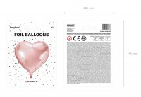 Herzilein Folienballon roségold 61cm