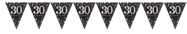 Golden 30th Birthday Wimpelkette 4m