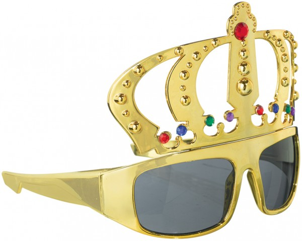 Lunettes de fête King Of The Day teintées or