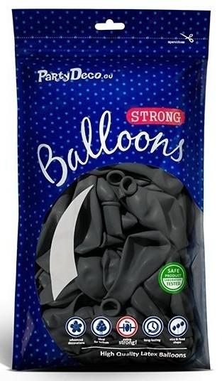 100 Partystar Luftballons anthrazit 27cm