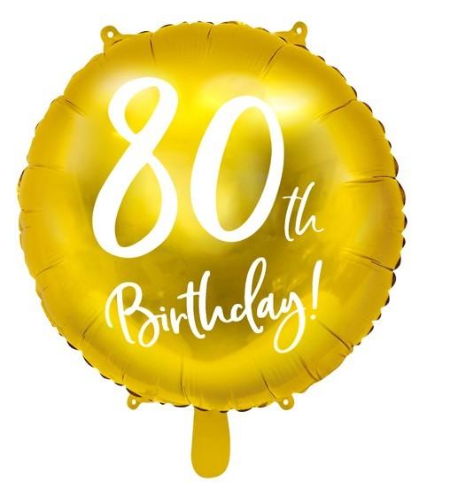 Glossy 80th Birthday Folienballon 45cm