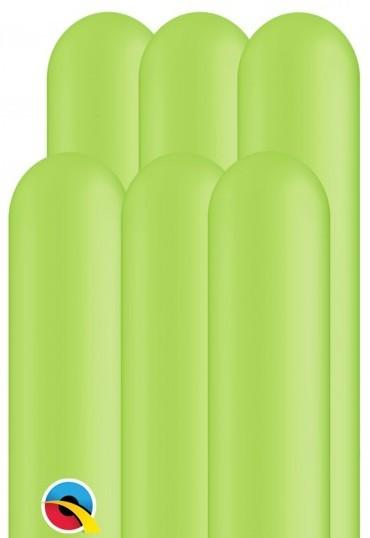 100 palloncini modellabili 260Q possono verde 1,5 m