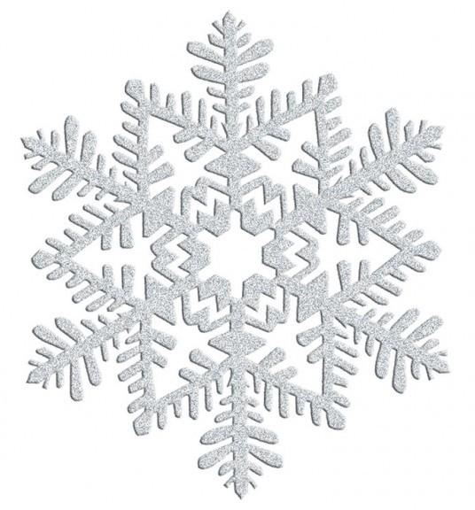 Sparkling snowflake hanger 16cm