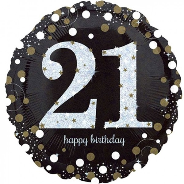 Golden 21st Birthday foil balloon 46cm
