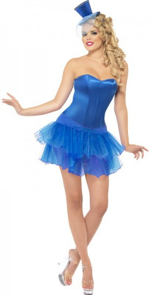 Corset Burlesque Pin Up Bleu