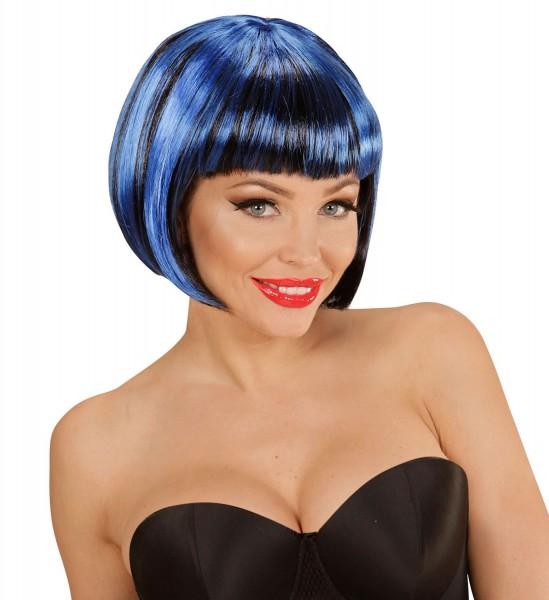 Blaue Damen Bob Perücke