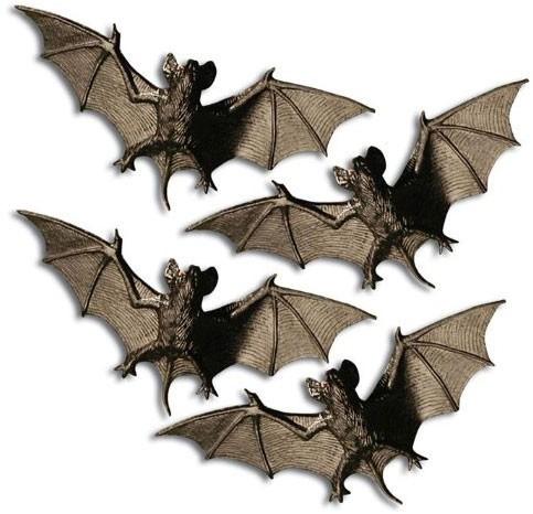 4-delige vleermuis-zwerm decoset