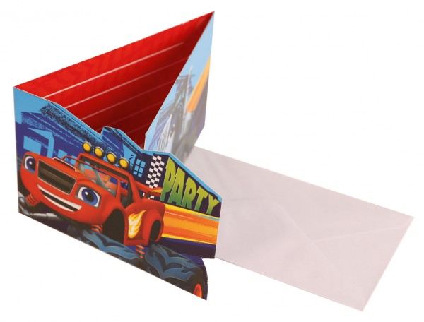 Carte d'invitation Blaze et les Monster Machines