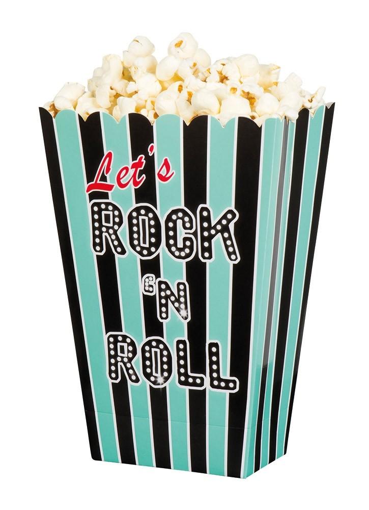 4 t rkise rock roll popcorn boxen. Black Bedroom Furniture Sets. Home Design Ideas