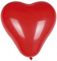 6 Rote Herzballons Nur du 25cm