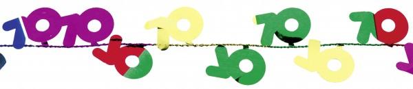 Glückwünsche Zum 70.Geburtstag Draht Girlande Bunt 270cm