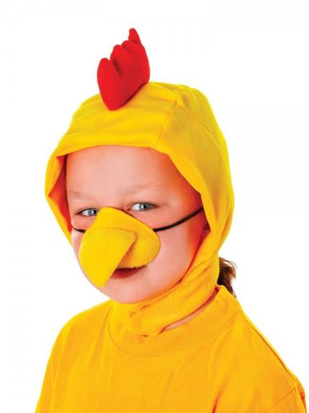 Niedliche Huhn Mütze Mit Schnabel