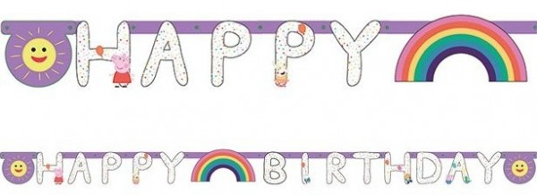 Peppa Wutz Rainbow Birthday Girlande 2,1m