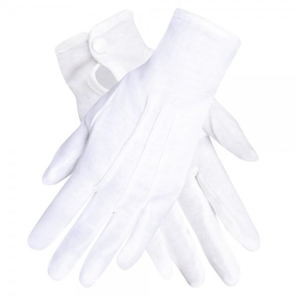 Weiße Handschuhe Carnival Fever