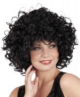 Perruque pina cheveux bouclés noirs