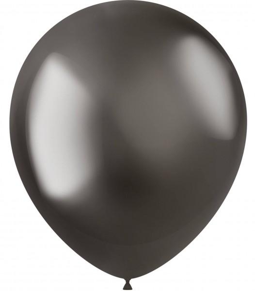 10 Shiny Star Luftballons anthrazit 33cm