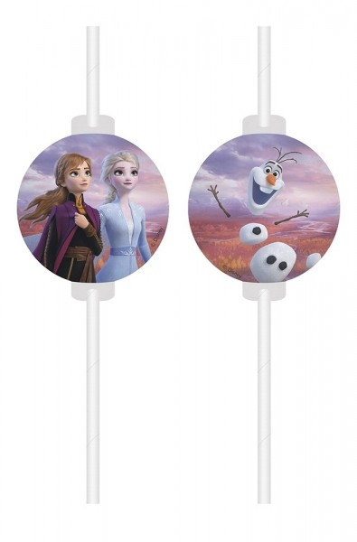 Frozen 2 drinking straws 4 pieces