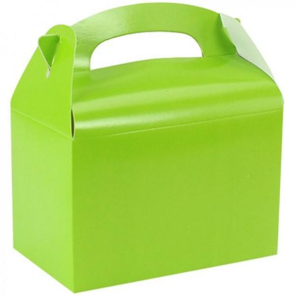 Coffret cadeau rectangulaire vert pomme 15cm