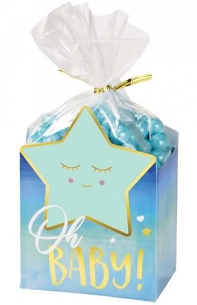 8 bolsas de regalo Hello World azul
