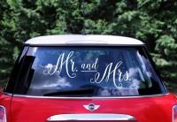 Mr & Mrs Autosticker weiß