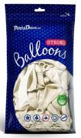 50 Partystar metallic Ballons weiß 27cm