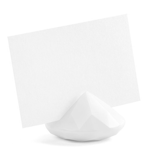 Porte-cartes 10 diamants blanc 4cm