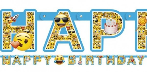 Emoji Geburtstagsgirlande 1,8m