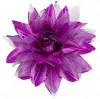 Barrette à cheveux fleur violette Floria