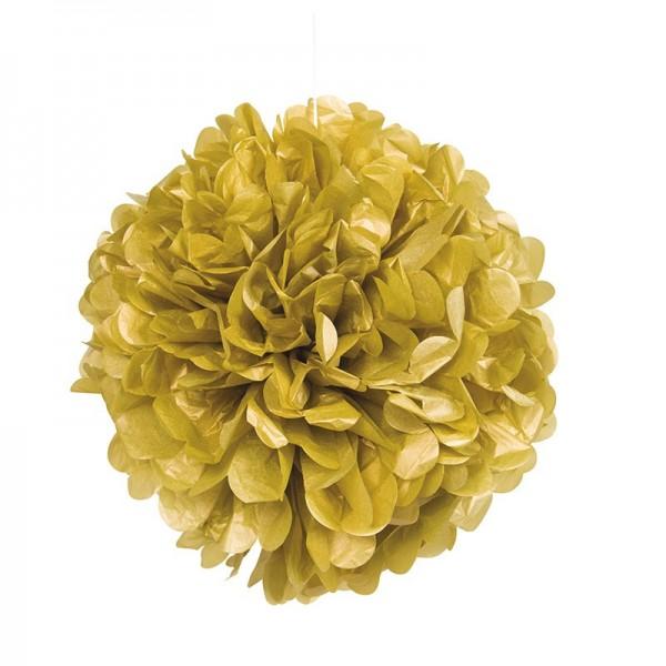 Fluffy pompom gold 40cm
